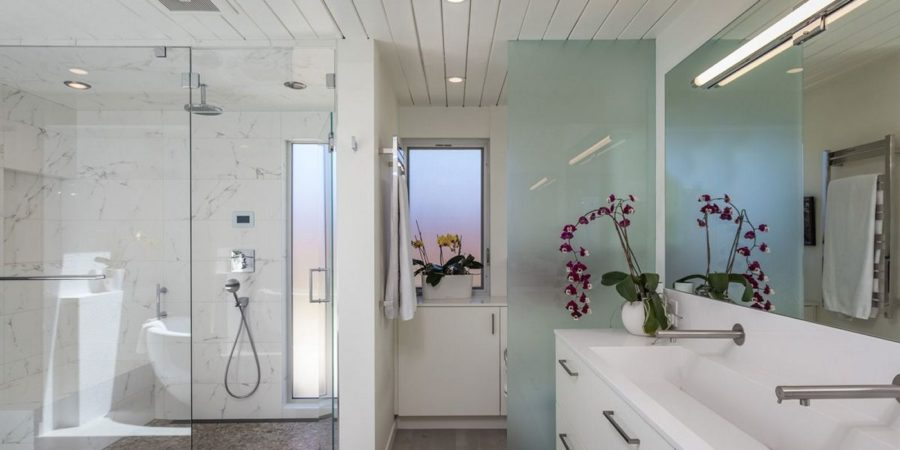 Perfect Modern Bath, Shower, and Vanity
