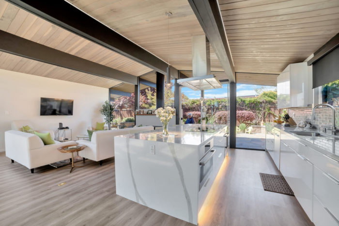 Efficient and functional and gorgeous Eichler kitchen
