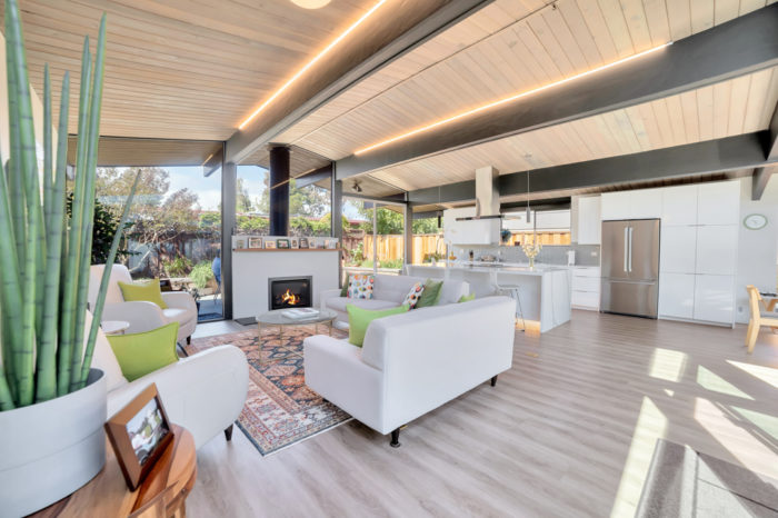 Open and airy Keycon-remodeled Eichler living space
