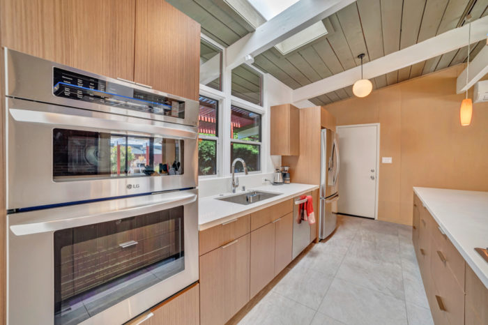 Everything within reach in this Eichler kitchen remodeled by Keycon