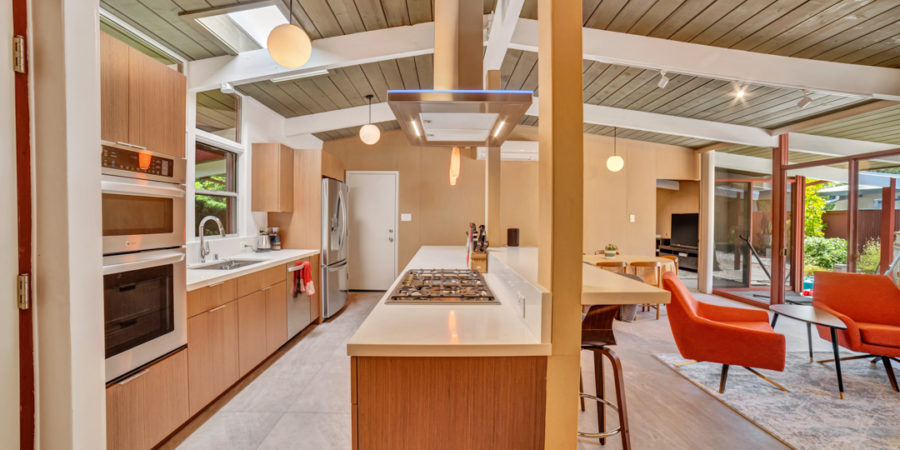 A view to the outside in this Keycon-remodeled Palo Alto Eichler