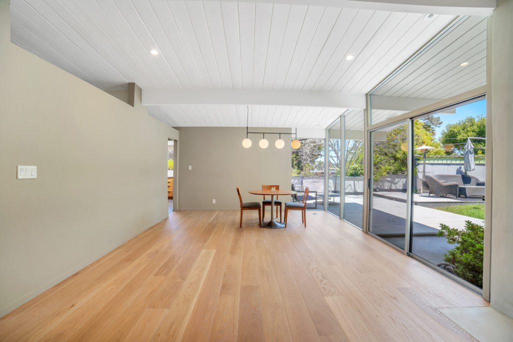 Open and flexible space for modern living in this San Mateo Eichler remodeled by Keycon