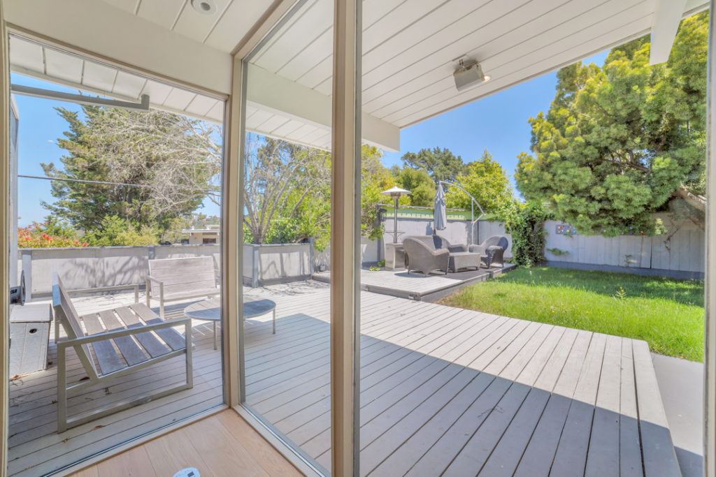 A view to the back of this Keycon-remodeled San Mateo Eichler